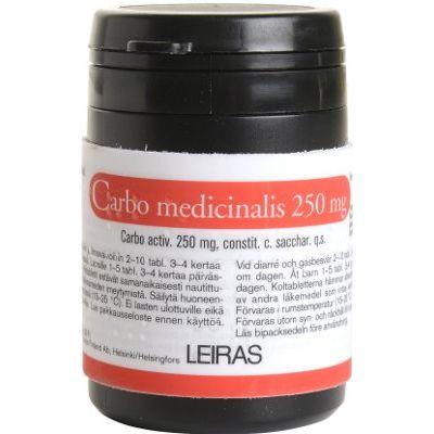 CARBO MEDICINALIS 250 mg tabl 50 kpl