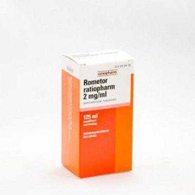 ROMETOR RATIOPHARM 2 mg/ml oraaliliuos 125 ml