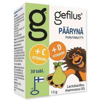 Gefilus + D Päärynä Puru tabl 30 kpl