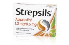 STREPSILS APPELSIINI 1,2/0,6 mg imeskelytabl 24 fol