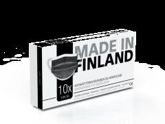 Made In Finland Type IIR-maski MUSTA 10 kpl